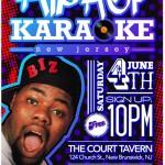 Hip Hop Karaoke NJ – June 4th, 2011 (Court Tavern New Brunswick NJ)